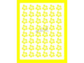 Samolepky Art na nehty kytičky žlutá -396-5