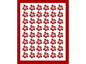Samolepky Art na nehty kytičky červená - 397-5