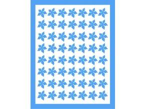 Samolepky Art na nehty kytičky modrá - 403-4