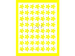 Samolepky Art na nehty kytičky žlutá -406-4