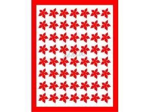 Samolepky Art na nehty kytičky červená - 408-4