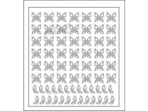 Samolepky Art na nehty motýlci stříbrná - 624-4