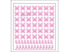 Samolepky Art na nehty motýlci sv.růžová - 626-4