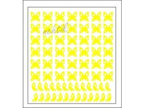 Samolepky Art na nehty motýlci žlutá - 629-4
