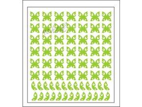Samolepky Art na nehty motýlci zelená - 630-4