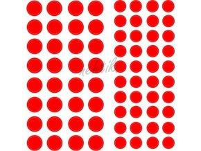 Samolepky Art na nehty kolečka červená - 189