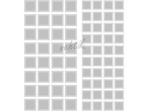 Samolepky Art na nehty čtverečky stříbrná - 222
