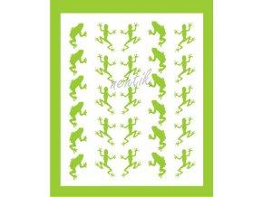 Samolepky Art na nehty žabičky zelené - 252