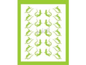 Samolepky Art na nehty ještěrky zelená - 274-3