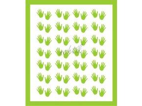 Samolepky Art na nehty ručičky zelená - 384