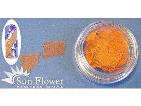 Zdobení nehtů - Barevné listí LI26 oranžové