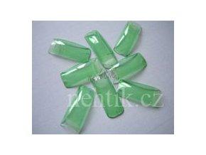 Nehtové tipy zelené průsvitné BOX 100ks She-Nails výprodej