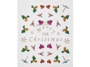 Samolepky vánoční N04