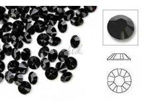 Broušené zirkonky černé 50ks