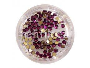 Broušené zirkonky tmavě fialkové 50ks