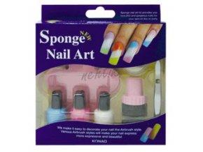 Konad Sponge set na nehty - růžový