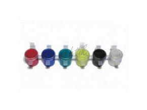 Akrylové barvy na nehty - sada 6 perleťových barev