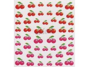 Samolepky ovoce - třešně