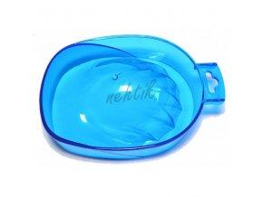Manikúrní miska průhledná modrá