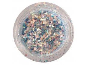 Glitrový prach + šestihránky G12 modré