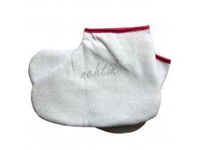 Termo návlek na nohu - bílý 2ks, růžový lem