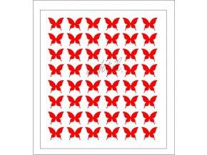 Samolepky Art na nehty motýlci červená - 595-2