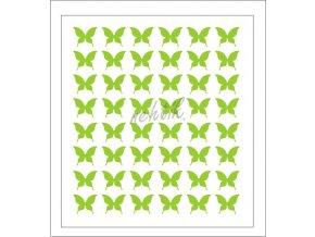Samolepky Art na nehty motýlci zelená - 604-2
