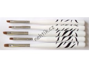 Štětce na nehty sada 5ks zebra