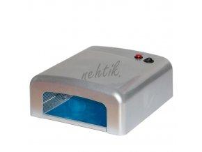UV Lampa na gelové nehty 36W barva stříbrná