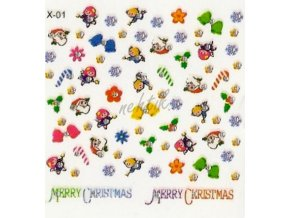 Samolepky vánoční x-01