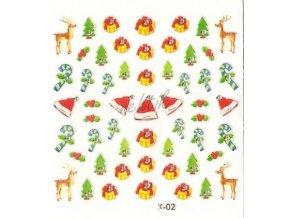 Novinka - Samolepky vánoční x-02