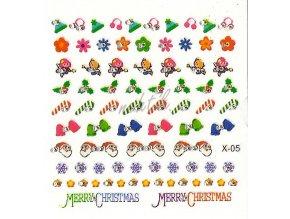 Novinka - Samolepky vánoční x-05