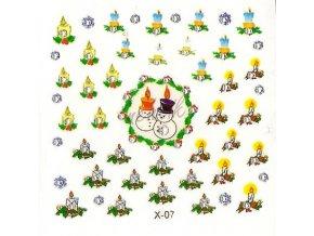 Novinka - Samolepky vánoční x-07