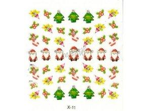 Novinka - Samolepky vánoční x-11