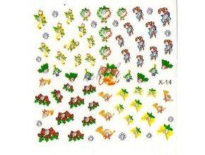 Samolepky vánoční x-14