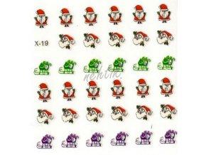 Samolepky vánoční x-19
