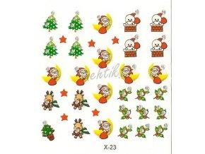 Samolepky vánoční x-23