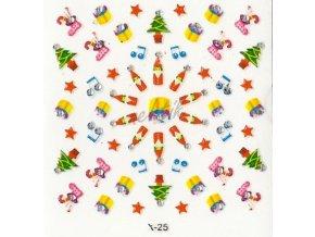 Samolepky vánoční x-25