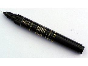 Zdobička s jehlou a štětečkem 01 černá Lion