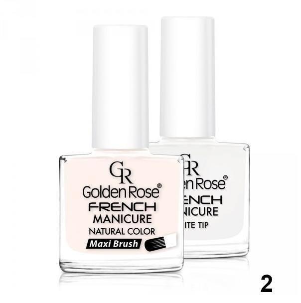 Francouzská manikúra 02 Golden Rose