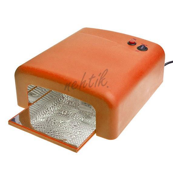UV Lampa na gelové nehty 36W barva oranžová