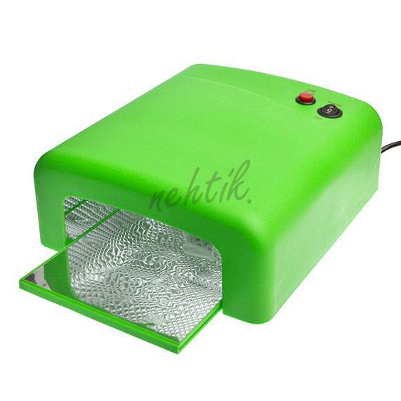 UV Lampa na gelové nehty 36W barva zelená