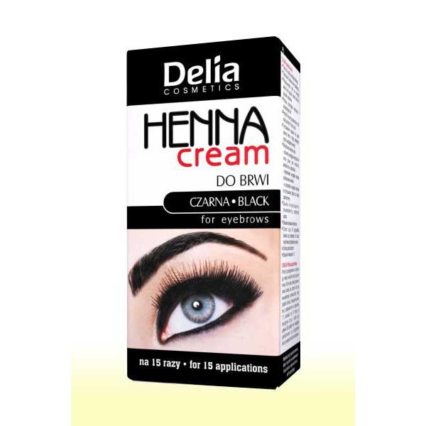 Barva na obočí Delia - černá, 15ml