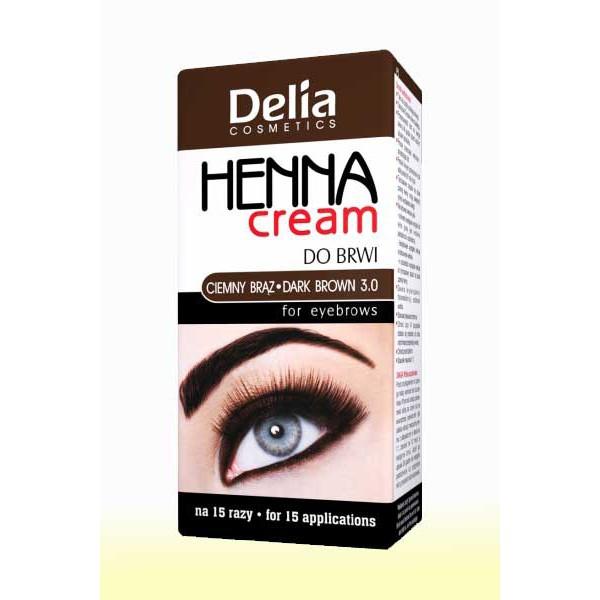 Barva na obočí Delia - tmavě hnědá, 15ml