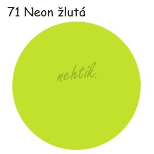 Zdobící akrylová barva na nehty - č. 71 neon žlutá 30g