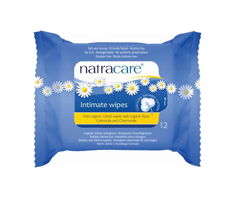 Intimní vlhčené ubrousky Natracare (12ks)
