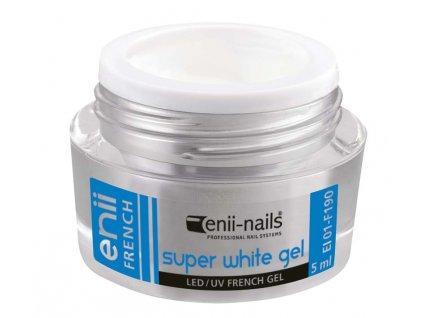 UV gel French super bílý 5 ml Enii