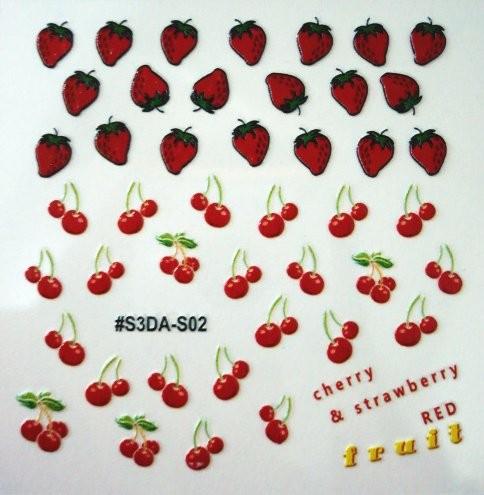 FOOD STICKER 2 jahody a třešně