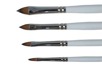 Štětec Kolínský plochý oblý č. 2 na akrylové a gelové nehty