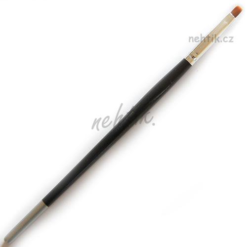 Štětec dřevěný černý, plochý č. 2, na gelové nehty